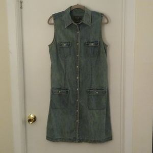 Sleeveless vintage denim dress